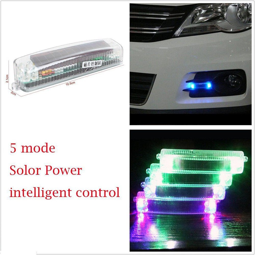 Cheap Fog Lamp For Car Find Deals On Line At Wiring Wira Get Quotations 5 Modes 10 Leds Solar Wireless Flashing Strobe Anti Rear Warning Emergency