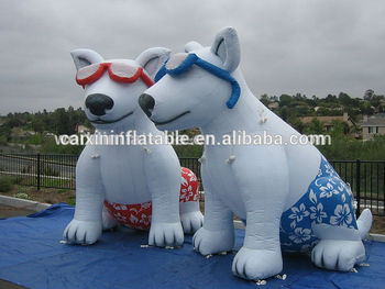 Inflatable Advertising Wolf Dog With Sun Classess For Sale - Buy Giant  Inflatable Dog,Christmas Inflatable Dog,Panda Dogs For Sale Product on