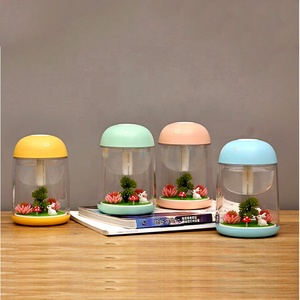 Portable Colored Gift Micro landscape USB Nightlight mini ultrasonic air humidifier