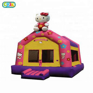 Inflatable Outdoor Bouncer 2018 Castle Small Bouncy Cheap Kids Commercial Hello Kitty Bounce House
