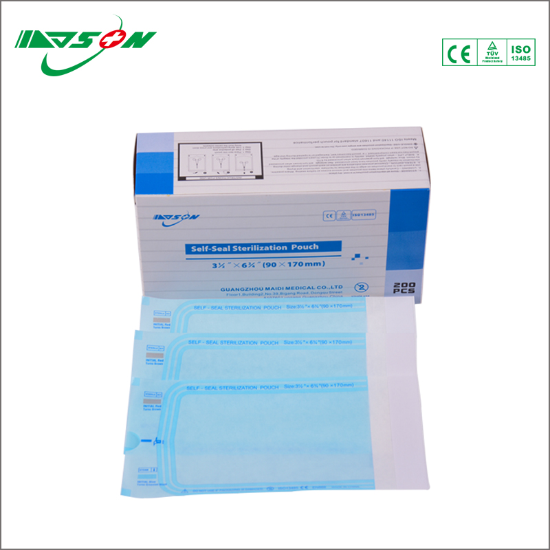 Medical surgical dressing self-sealing sterilization paper bags packaging