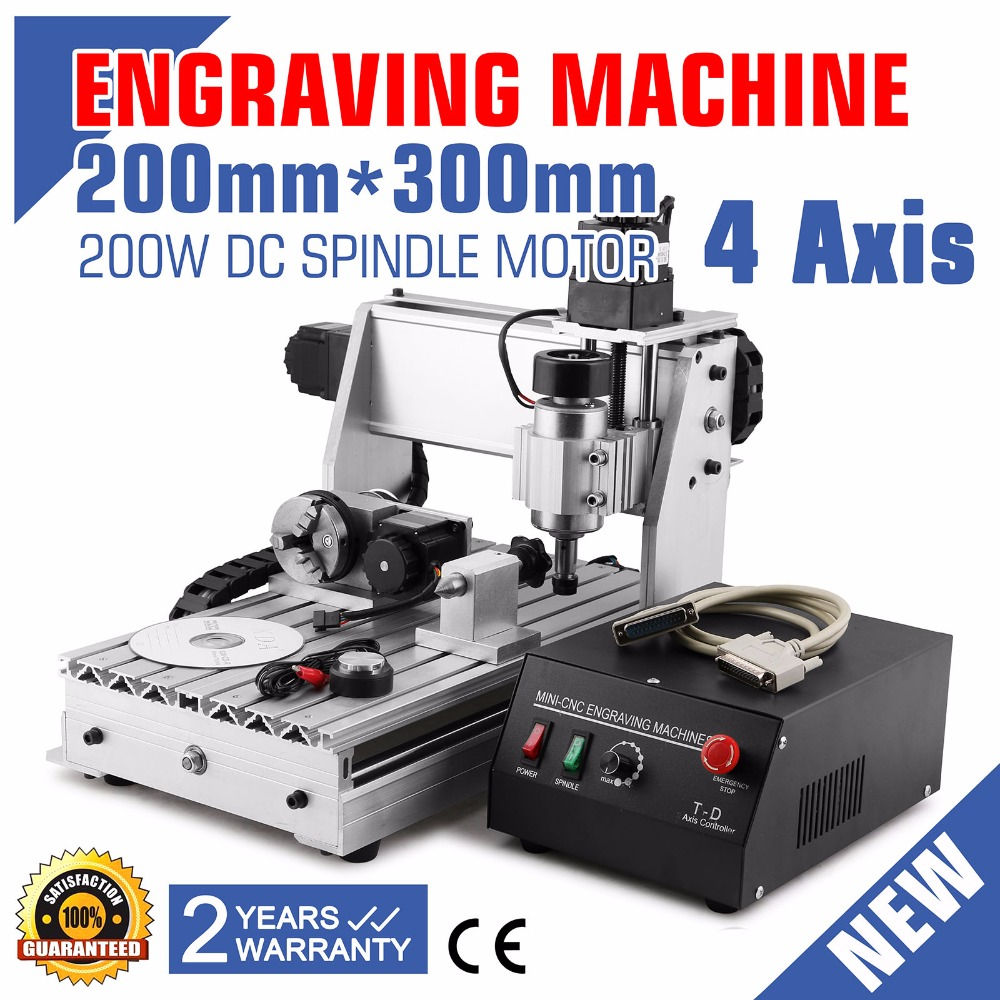 3020 4 AXIS <strong>CNC</strong> ROUTER ENGRAVER ENGRAVING MACHINE Updated New <strong>CNC</strong> 3020T Router Drilling and Milling Machine 4 Four Axis
