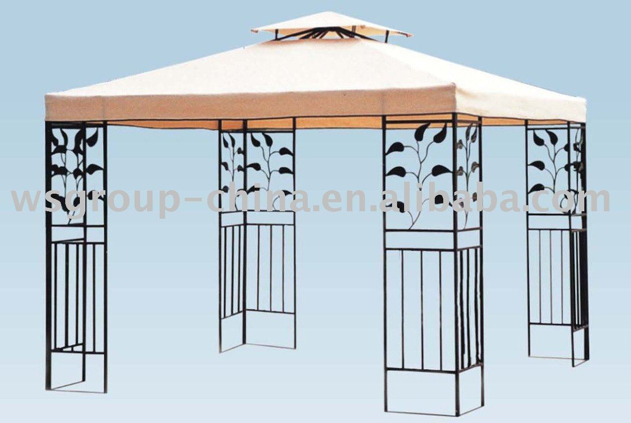 Outdoor Metal Gazebo With Double Roof/garden Gazebo White   Buy Metal Roof  Gazebo,Gazebo With Metal Roof,Metal Square Gazebo Product On Alibaba.com
