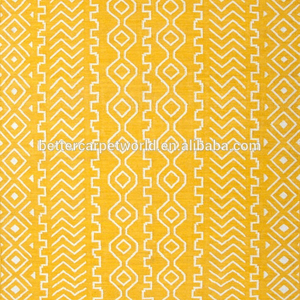 Plain solid color yellow good style handtufted carpet