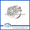 Silver Tone Flower scarf Bails Findings Tube Scarf Accessories