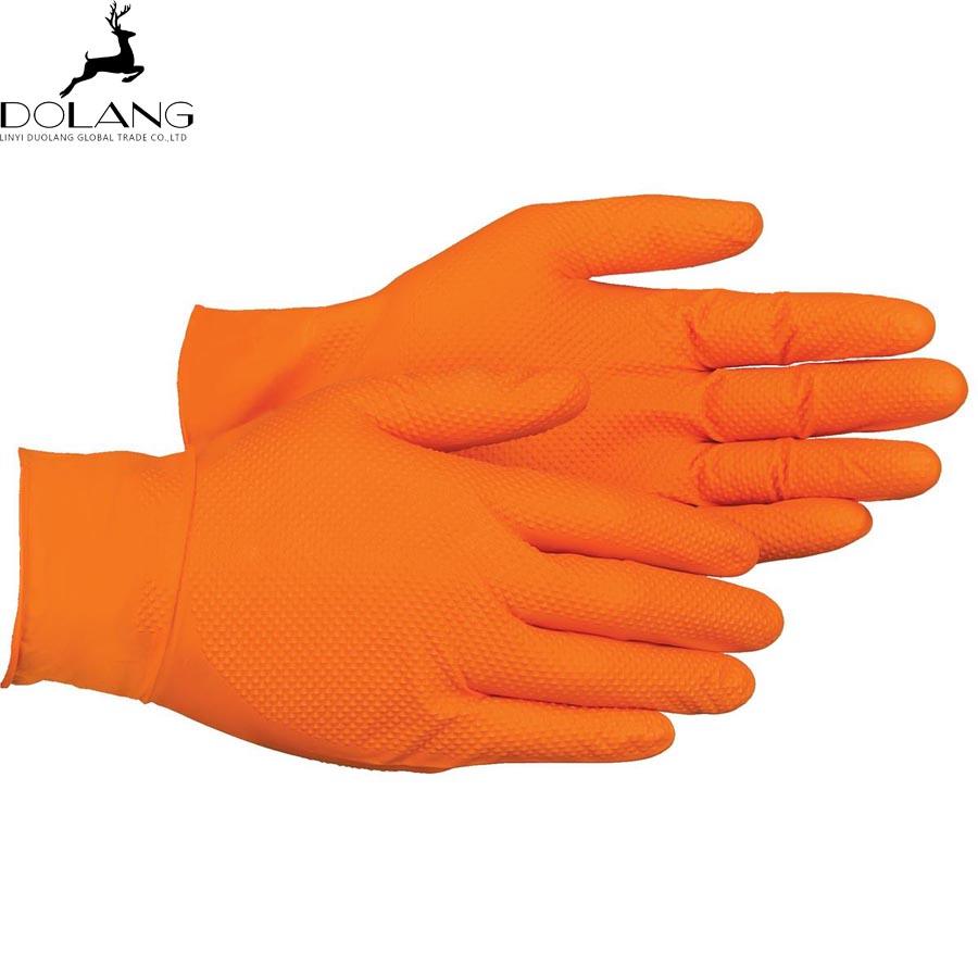 Pakai Sarung Tangan Nitrile Bertekstur Bubuk Non Steril Penuh Gratis Examination Gloves Powder Violet