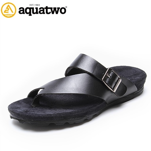 61b0c7f2bda41 2017 New Arrival Aquatwo Brand Italian Men s Leather Sandals With High  Quality
