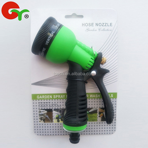 Plastic garden hose water spray nozzle for irrigation house cleaning
