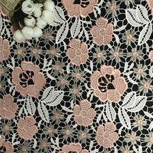 RS462 bulk thick lace multicolor poly emb lace fabric