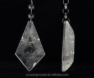 natural rock clear quartz crystal gemstone chandelier pendants with wholesale price