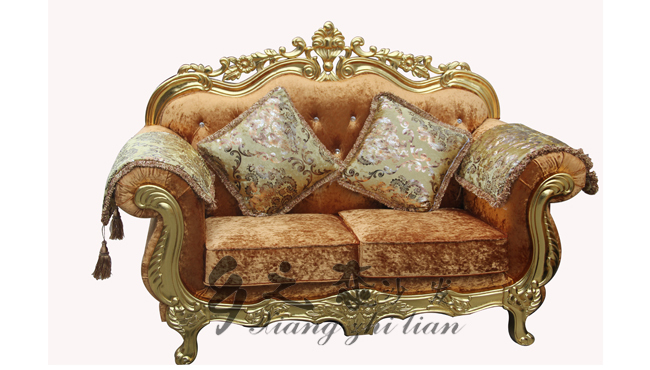 Elegant shining gilt frame gold floral uphostering cheap for Cheap baroque style furniture