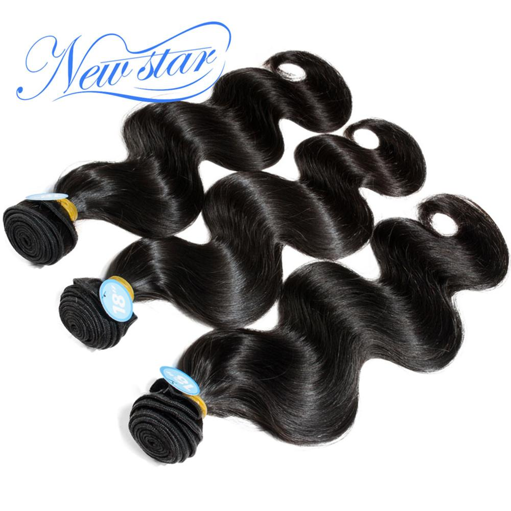 New Star body wave brazilian virgin human hair 3pcs/lot mixed lengths