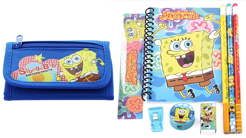 SpongeBob Squarepants Wallet with Stationary Set Back to School Gift Set