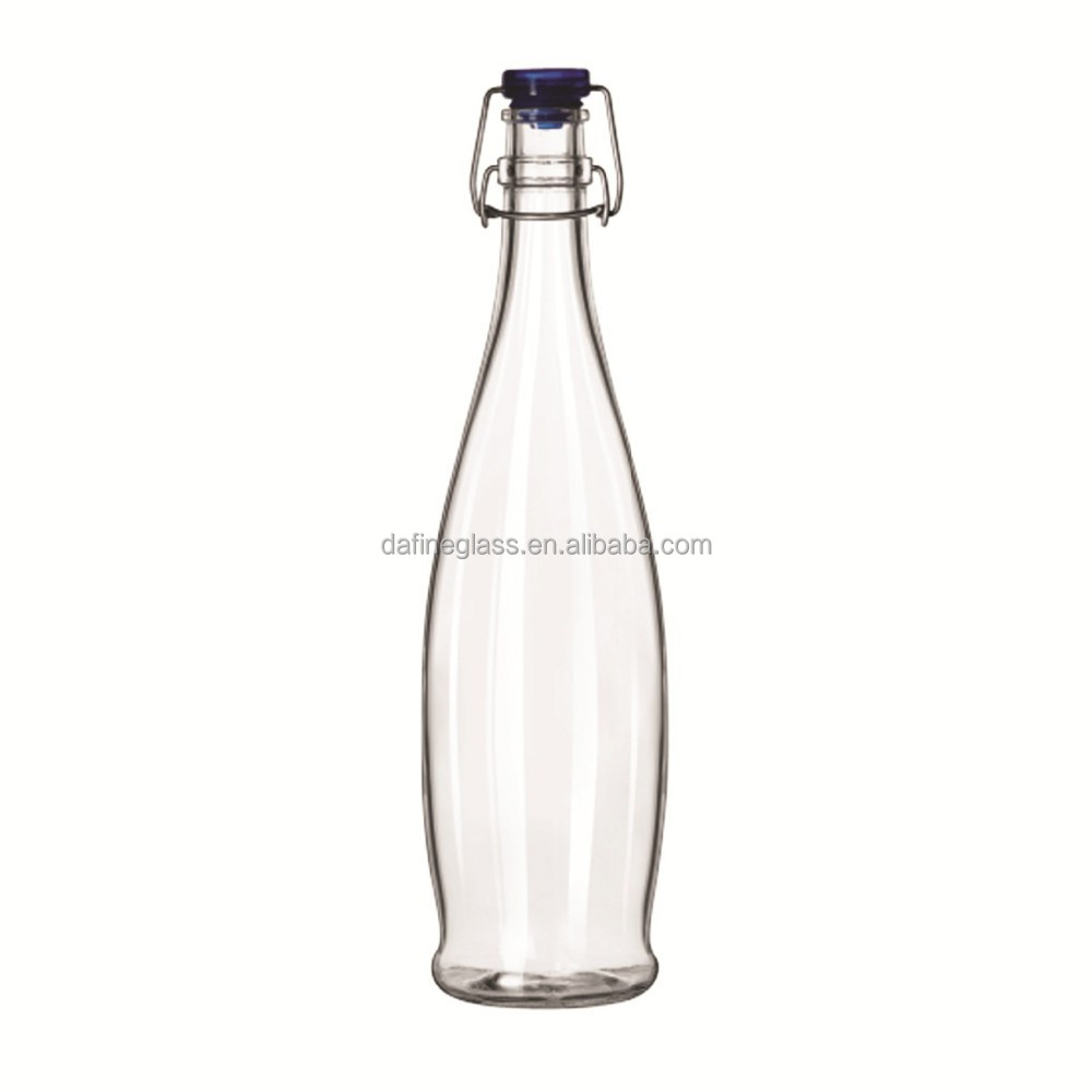 750ml 25oz clear white juice Tablefair Glass Clip Top Bottle glass bottle with Clip top