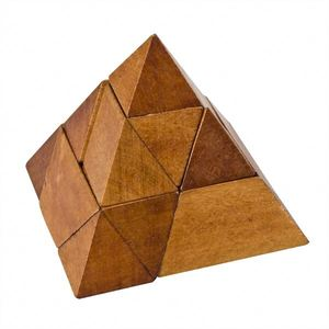 wooden Triangle pyramid pyramid magic puzzle PY4006