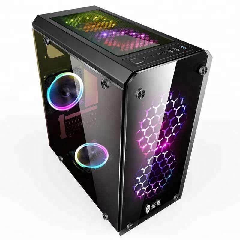 Oem özel bilgisayar kasası alüminyum oyun bilgisayarı bilgisayar kasası