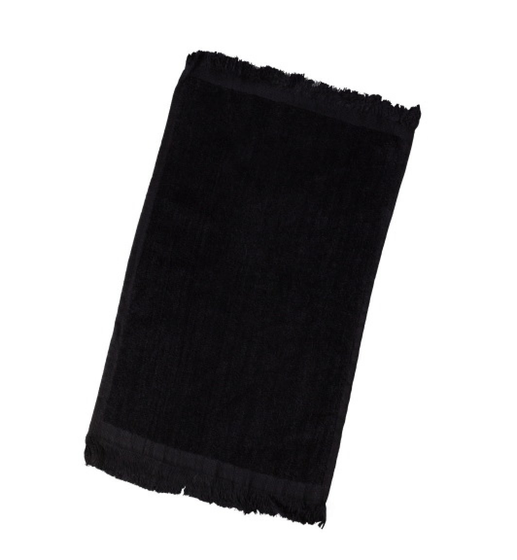 """2 Pack- Cotton Terry Velour Fingertip Golf Hand Towels 11""""x18"""", Sport, Gym, Home Towels by Georgiabags (2, Black)"""
