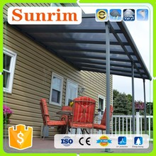 100% Outdoor UV Protection Sun Rain Shade with Aluminum frame Wind Resistant Canopy Awning