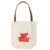 Personalised organic poly  cotton grocery tote bags with leather handles