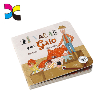 New style colorful educational ecofriendly children cardboard display book