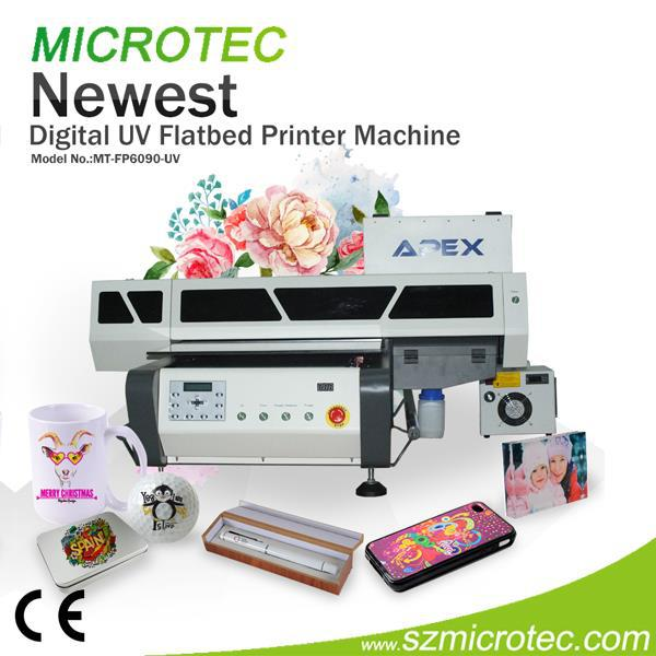 Brand New Phone Case, UV Plastic Pen Digital Printing Machine, a3 UV Led Flatbed Printer