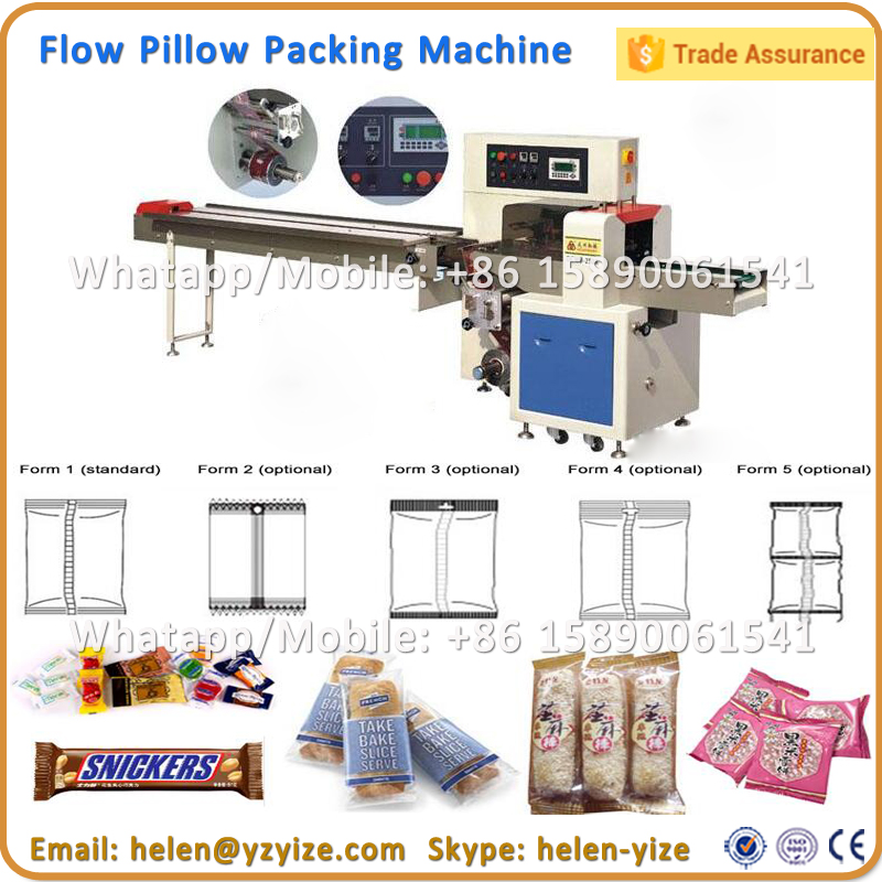 Horizontal Flow Pillow Vacuum Jelly Candy Lollipop Packing Machine