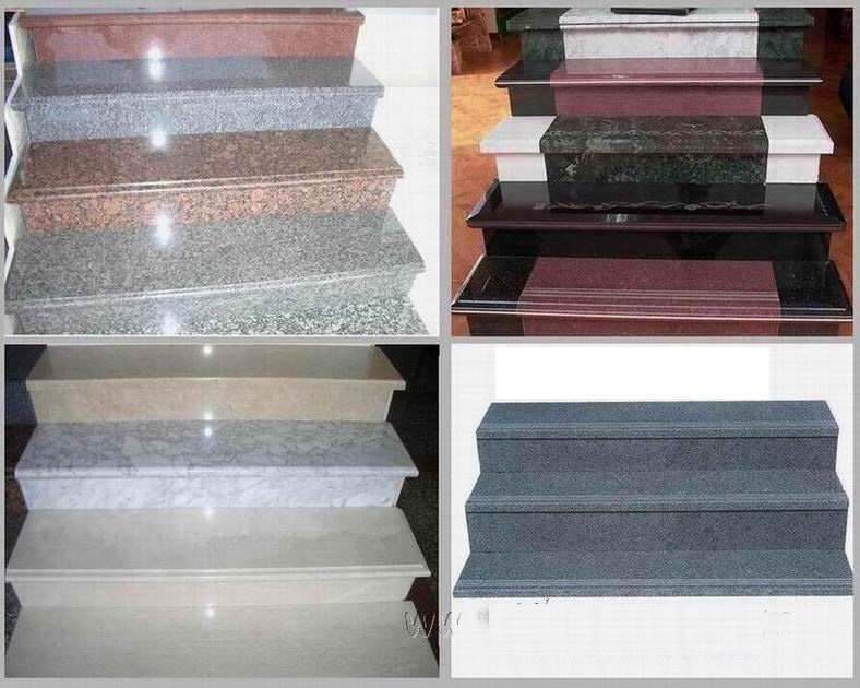 Marble Staircase Customized Outdoor Stone Tiles For Stairs