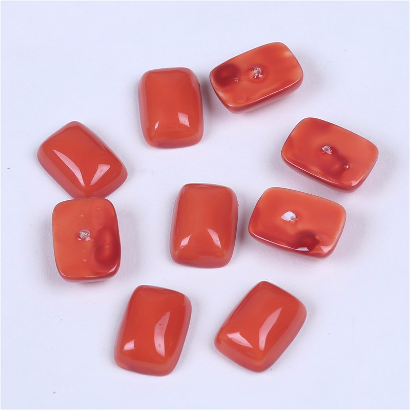 wholesale half-drilled mother pearl shell beads Orange