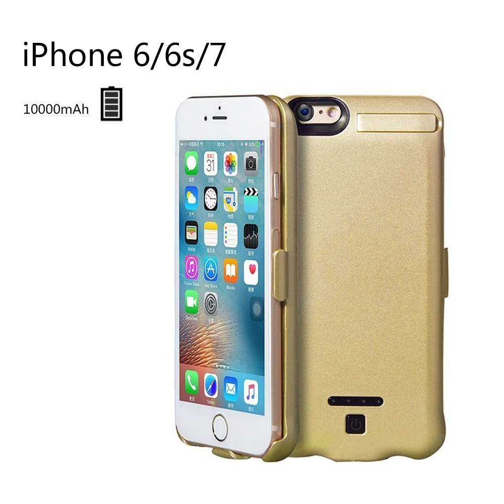 for iPhone 6/6S/7 Battery Case, BlueMicky Charging Case Portable Charger Ultra Slim iPhone 6/6S/7 (4.7 inch)-5000mAh Extended Built-in Battery Power Bank (Gold)