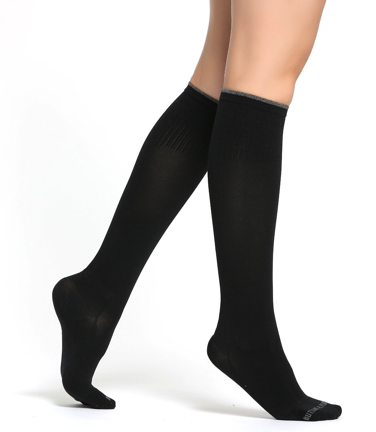 de854500f9 Get Quotations · Buttons & Pleats Compression Socks Womens - Pair of Medical  Grade Graduated Sock Stockings - Ideal