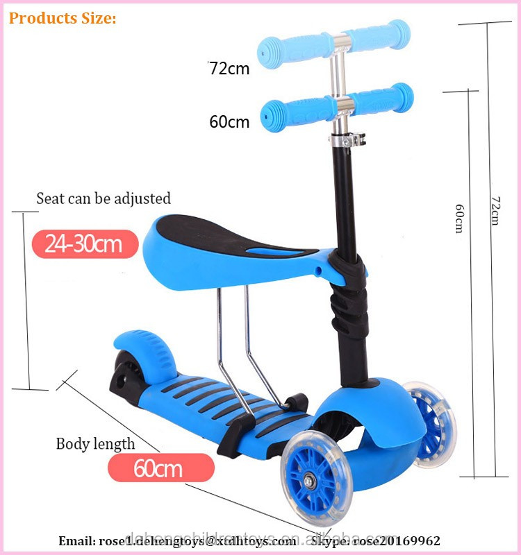 2016 High Quality Cheap Kids 3 In 1 Scooter/CE approved Kick Scooter