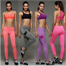 Newest Woman Yoga Sport Tights Suits Sexy Nylon Workout Clothes For Women