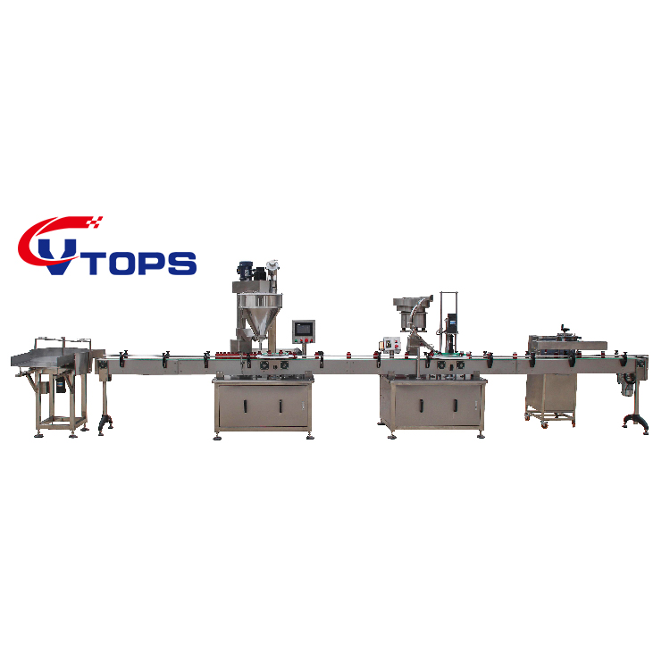 2019 Vtops Automatic Dry Curry Chilli Spices Powder Auger Filler Machine Prices / Filling Capping Labeling Line for Bottles Jars