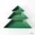 3pcs 10 inch Green Ceramic Christmas Tree-Shaped Platter Plates Porcelain Dishes