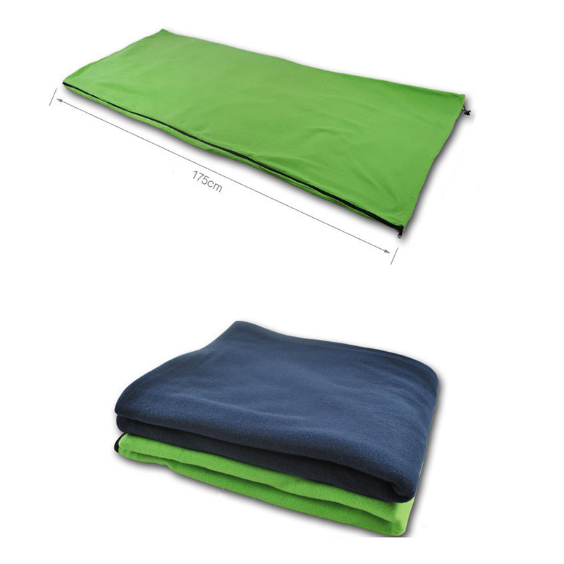 Polar Fleece Sleeping Bag For Summer Camping or Liner For Winter, Micro-Fleece Blanket.