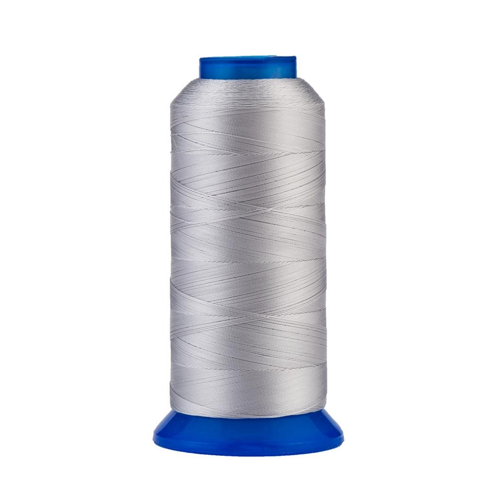 Selric [1500Yards / 130g / 22 Colors Available] UV resistant High Strength Polyester Thread #69 T70 Size 210D/3 for Upholstery, Outdoor Market, Drapery, Beading, Purses, Leather ( Silver )