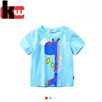 f5f366aae1 2018 Moda Verão Camiseta Meninos Crianças T-shirt Azul Barato Roupas  Boutique das Crianças Shortsleeve