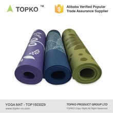 TOPKO Wholesale Eco Non-toxic Anti-Slip Custom Printing NBR Mat Yoga