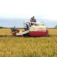 32hp full feeding 0.5m3 grain tank mini kubota rice harvester dc70