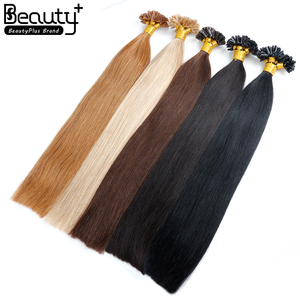 Best Selling 100% Real Remy Brazilian Virgin Keratin Fusion Human Hair Extension,Russian 8A U Tip Hair Extensions