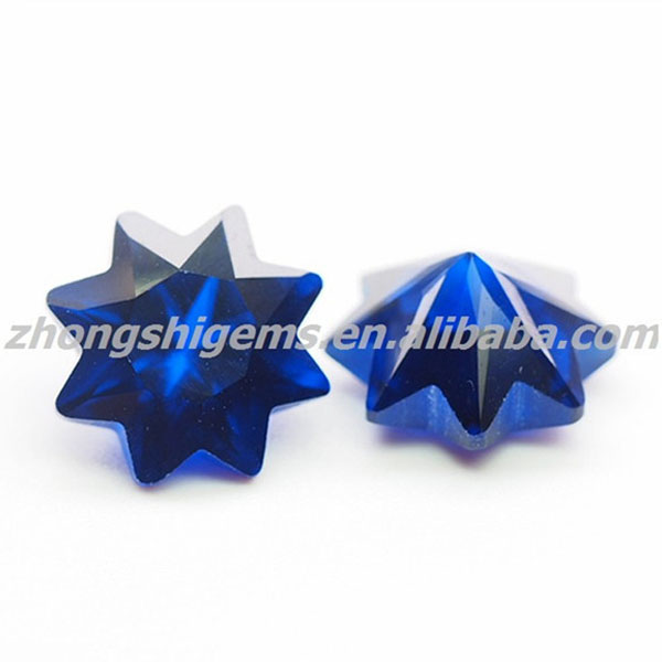 Star cut tanzanite pointed back gem stone