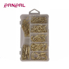Factory outlets 101pcs iron brass plated square screw cup hooks