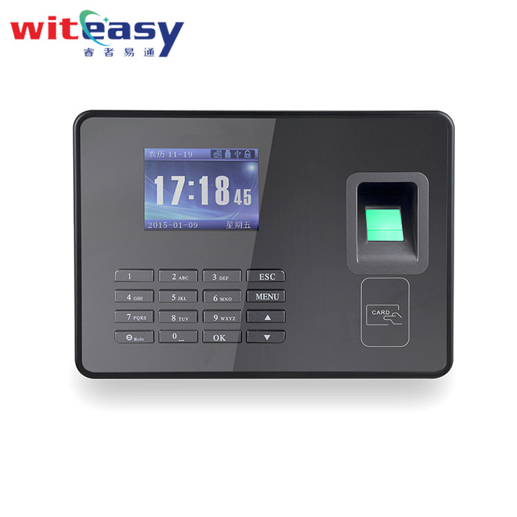 DC 5V Biometric time clock with attendance software for workers management A8