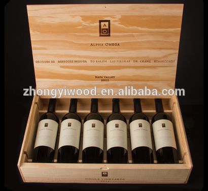 Trade assurance custom logo factory direct supply wooden wine box for gift chest packing wholesale