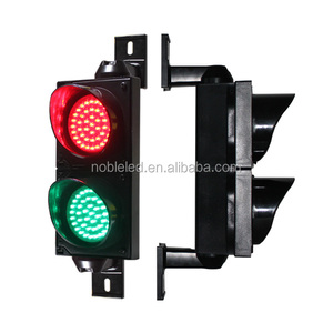 Red Green 100mm Traffic Light With Cobweb Lens Solar Traffic Light On Sale