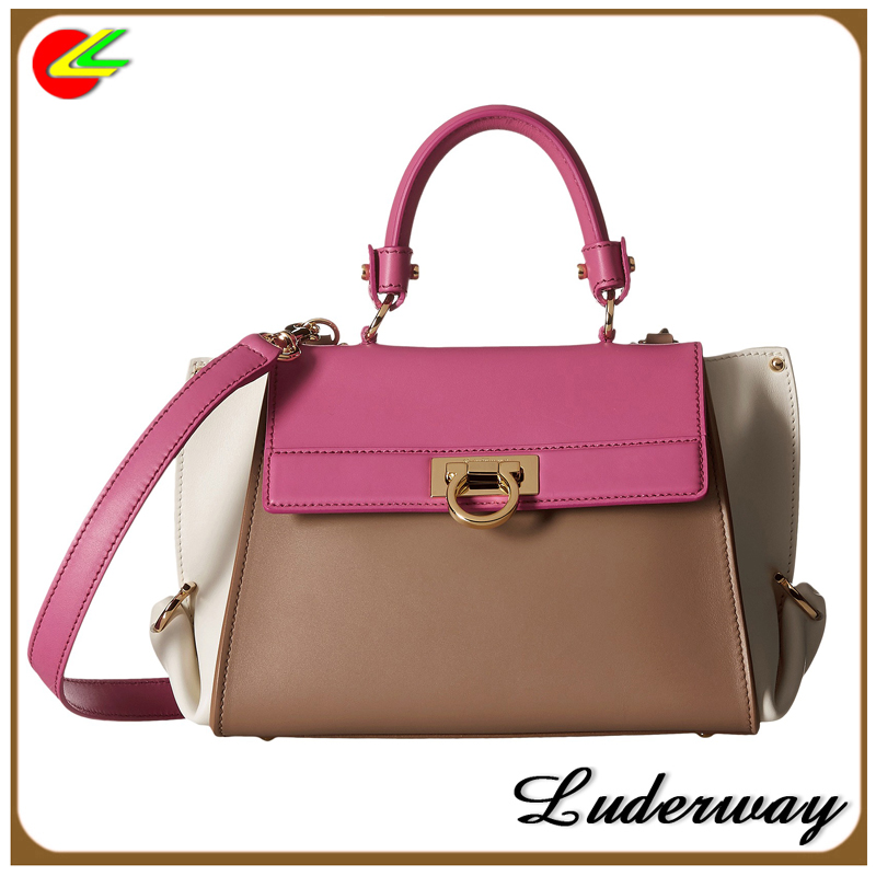 The contrast color systyle handbags