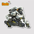 Bevle 9123 OW Shooting Game Winston Fashion Sticker Notebook Waterproof Tide 3M Sticker Fridge Skateboard Car