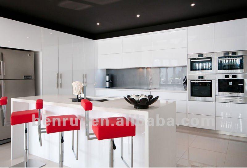 Fabulous pac cuisson peinture blanc laque finition for Peinture laque brillante pour meuble cuisine