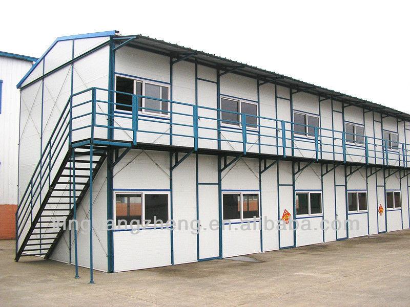 instalasi mudah 2 lantai prefabrikasi rangka baja rumah