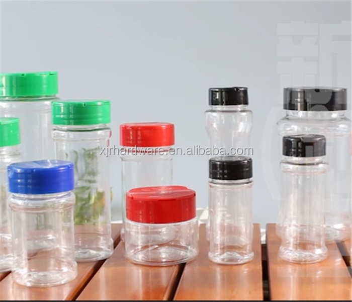 Super quality hot sell glass or plastic <strong>bottles</strong> spice jar
